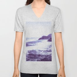 Vintage Coastal Sea Unisex V-Neck