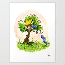 Cabane Art Print