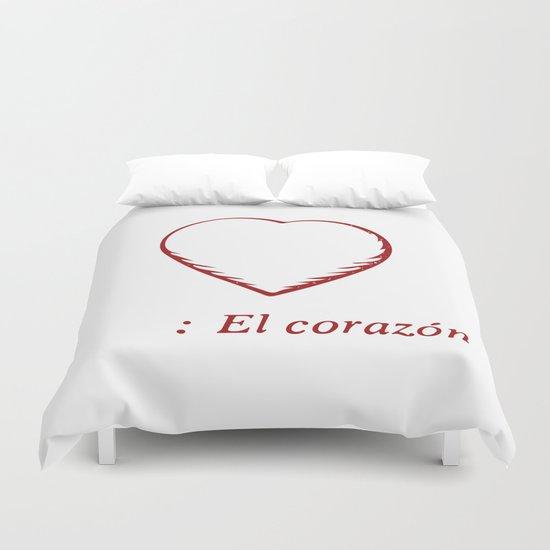 El Corazon Duvet Cover