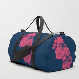 MARCUS AURELIUS ANTONINUS AUGUSTUS / prussian blue / vivid red Duffle Bag