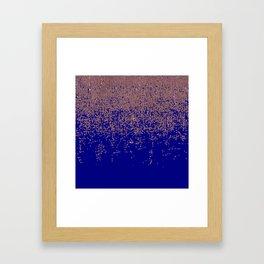 Glamorous Rose Gold Cobalt Blue Glitter Ombre Framed Art Print