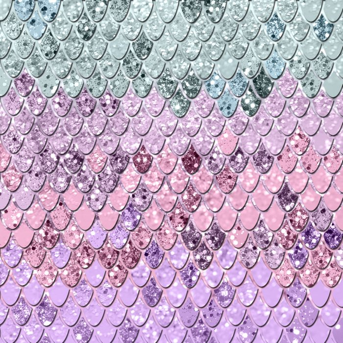 Mermaid Scales with Unicorn Girls Glitter #4 #shiny #pastel #decor #art #society6 Comforters