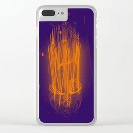 Purple Light Clear iPhone Case
