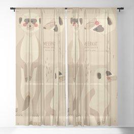 Meerkat, African Wildlife Sheer Curtain