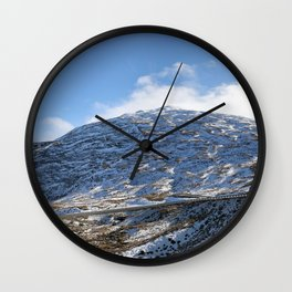 The Drive to Cardrona Ski Fields from Queenstown, New Zealand Wall Clock