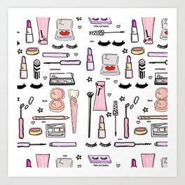 Makeup Love Art Print