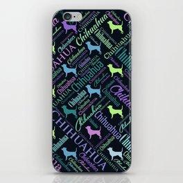 Chihuahua Word Art iPhone Skin