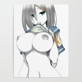Hamakaze showing weapons Poster