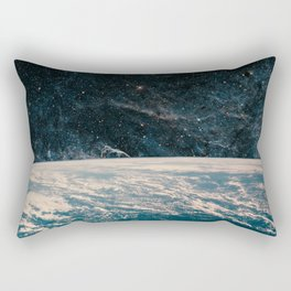 Earth and galaxy. Night Sky Space Rectangular Pillow