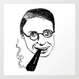 Jean-Paul Sartre Art Print