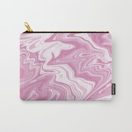 Pink Liquid Marble Carry-All Pouch