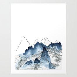 Love of Mountains Art Print