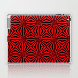 Red Abstract Modern Pattern Art Design Laptop & iPad Skin