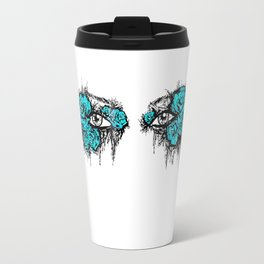 If I Could hide your eyes - blue version Travel Mug