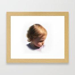 E Framed Art Print