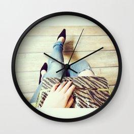 Black Shoes Wall Clock