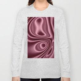 Pink Silk Long Sleeve T-shirt