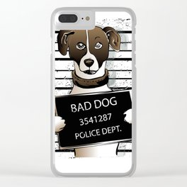 cartoon dog prisoner Clear iPhone Case