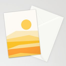 Abstract Landscape 09 Yellow Stationery Cards