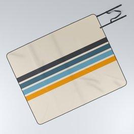 Vintage Retro Stripes Picnic Blanket