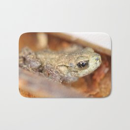 Camouflaged small frog Bath Mat