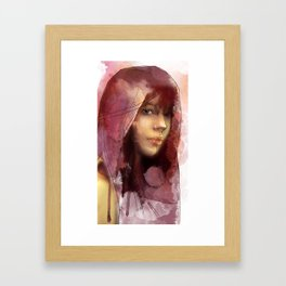 Red portrait Framed Art Print