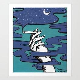 Hazey Art Print
