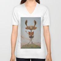 teacher V-neck T-shirts featuring the teacher  by Ed Schaap