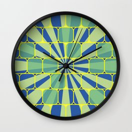 Abstract geometric blue Wall Clock