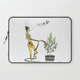 Rainbow Weed Babe - Higher Life Laptop Sleeve