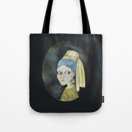 Girl with the Pearl Earring Tote Bag