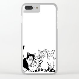 CAT AVENGER Clear iPhone Case