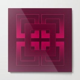 Rubin , geometric Metal Print