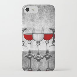 Still life with glass glasses with wine iPhone Case