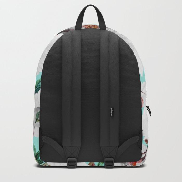tropical wings flowers Backpack
