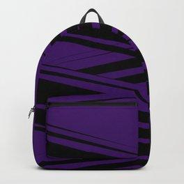 Black Diagonal Crossing On  Purple Backpack