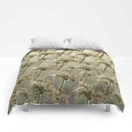 Palm Trees - Earthy Tones Comforters