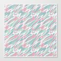 Abstract pink turquoise waves . by fuzzyfox85