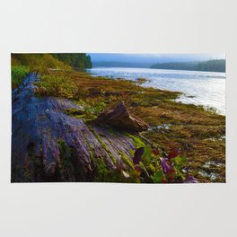 Ucluelet Inlet on an early fall morning Rug