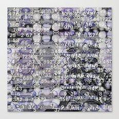 Post-Digital Tendencies Emerge (P/D3 Glitch Collage Studies) Canvas Print