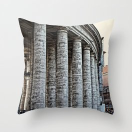 Vatican City Marble Throw Pillow