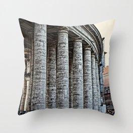 Vatican City Marble Throw Pillow