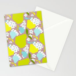 Pears + Pear Blossoms Stationery Cards