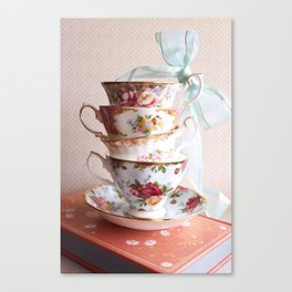 Teacup Stack Canvas Print