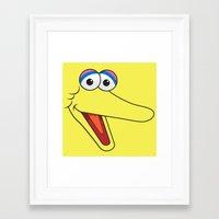 sesame street Framed Art Prints featuring Sesame Street Big Bird by Jconner