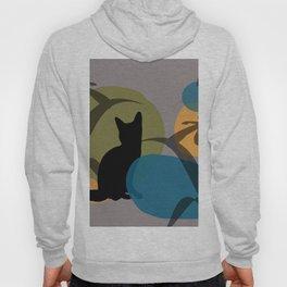 Abstrackt geometry minimal Art Flower Cat Hoody