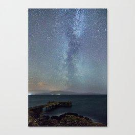 The Milky Way Over Portencross, Scotland Canvas Print