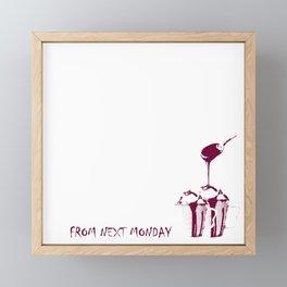 From next Monday Framed Mini Art Print