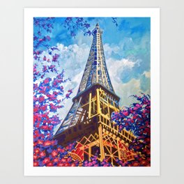 Paris in Spring Art Print