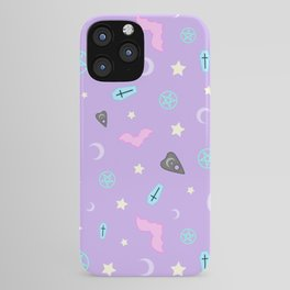 Pastel Goth Occult Pattern iPhone Case